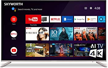 "SKYWORTH G2A Series 55"" 4K 2160p UHD HDR 60Hz LED Smart Android TV Chromecast A53 Quad-Core 60Hz 55G2A"