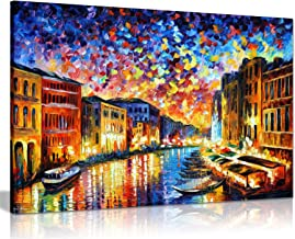 Venice Grand Canal by Leonid Afremov Canvas Wall Art Picture Print for Home Decor (24x16)