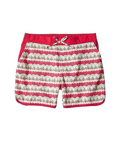 Columbia Kids Sandy Shorestm Boardshorts (Little Kids/Big Kids) (Cactus Pink Striped Peaks) Girl