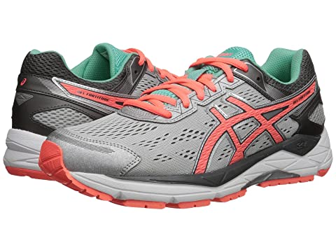 ASICS Gel-Fortitude 7 Silver/Fiery Coral/Aqua Mint Women's Running Shoes 8523171