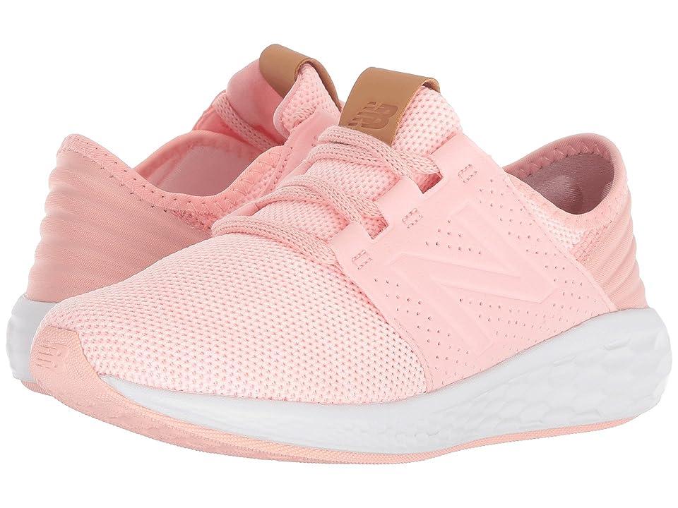 New Balance Kids KJCRZv2P Knit (Little Kid) (Himalayan Pink/White) Girls Shoes