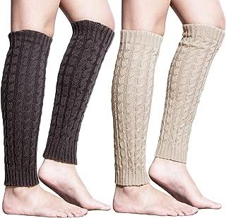 Loritta 2 Pairs / 4 Pairs Women Knit Leg Warmers Winter Long Boot Cuffs Socks