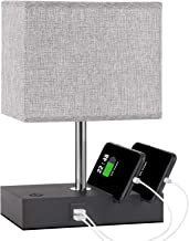 Touch Control Bedside Lamp with 2 USB Ports, Aooshine Fully-Dimming USB Table Lamp with 2 Phone Stands and Low Voltage Led...