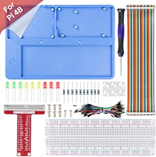 SunFounder Raspberry Pi RABホルダー キット,Raspberry Pi/Arduino用ホルダー,830ポイントはんだレスブレッドボード,電子工作キットセット,Arduino R3/Mega2560 Raspberry...