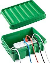 SockitboX - Weatherproof Indoor and Outdoor Electrical Power Cord Connection Enclosure Box ? Medium Green