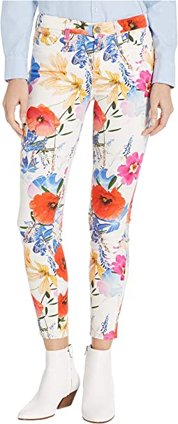 Printed Ankle Skinny in Seaside Poppies