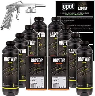 U-Pol Raptor Black 8 Liter Spray-On Truck Bed Liner Kit w/Free Spray Gun