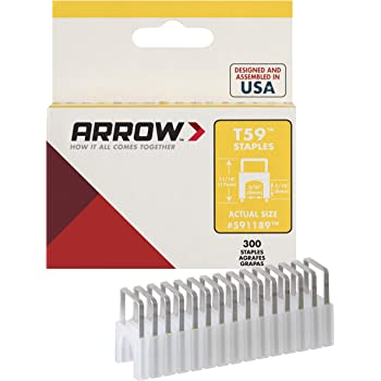 300-Pack Clear Arrow Fastener 591189SS Genuine T59 Stainless 5//16-Inch by 5//16-Inch Staples