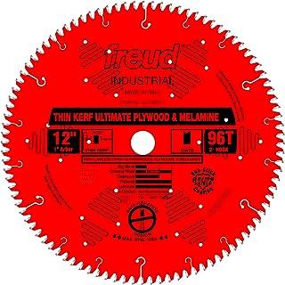 Freud LU79R012 Thin Kerf Ultimate Plywood & Melamine Saw Blade 12 inch x 96t Hi-ATB 1 inch arbor Perma-Shield Coated