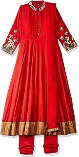 SOCH Women's cotton anarkali Salwar Suit Set (SABR CD 08_ Rust_ X-Large)