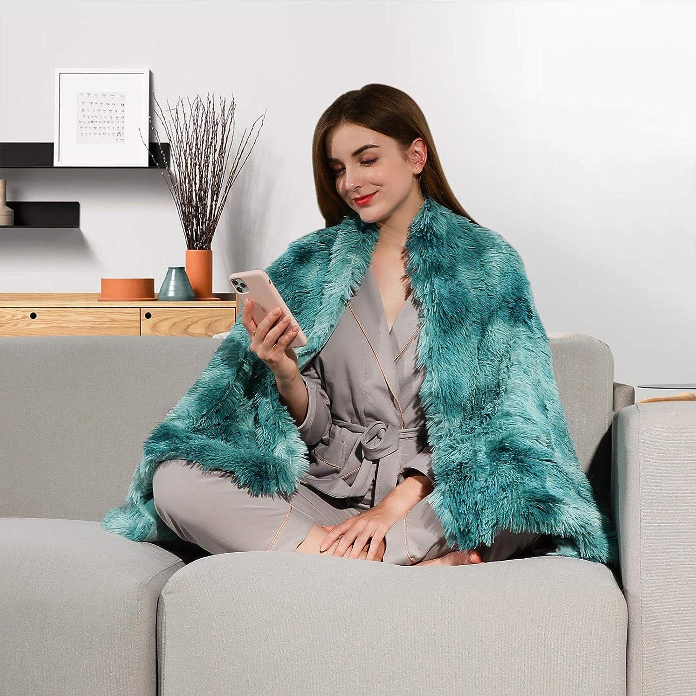 Lvylov Decorative Soft Fluffy Faux Fur Throw Blanket 50