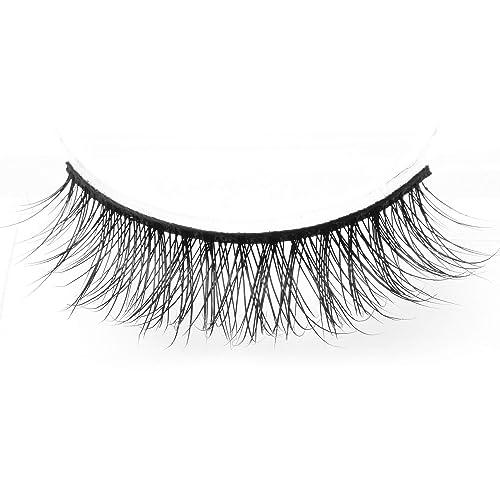 6a553c6d933 Arimika Handmade Lightweight Natural Short False Eyelashes For Makeup 2  Pairs Pack D18