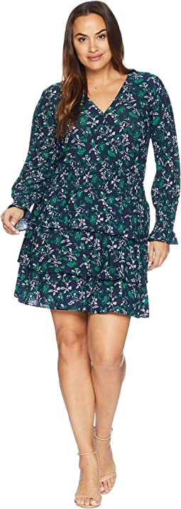 Plus Size Boho Flare Multi Tier Dress