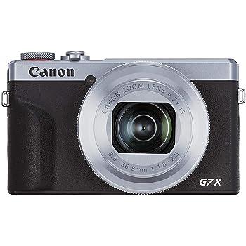 Canon コンパクトデジタルカメラ PowerShot G7 X Mark III シルバー 1.0型センサー/F1.8レンズ/光学4.2倍ズーム PSG7XMARKIIISL