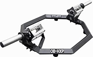 Valor Fitness OB-HEX Hex Trap Bars with Multiple Grip Options for Shrugs, Deadlifts, and Squats - Builds Muscular Shoulders, Back, and Legs