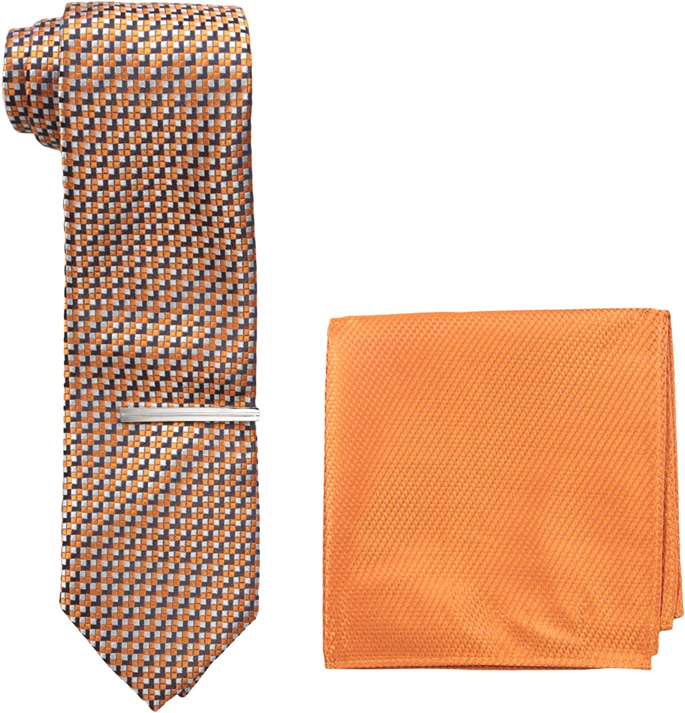 U.S. Polo Assn. Men's Print, Pocket Square and Tie Bar Set