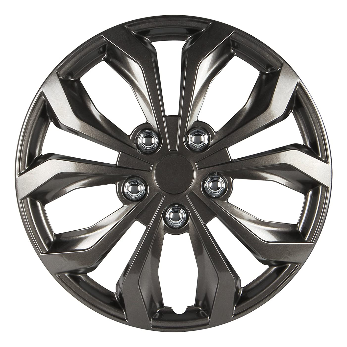 Pilot WH555-14GM-B Universal Fit Performance Chevy Cruz Style Gunmetal Finish 14 Inch Wheel Covers - Set of 4