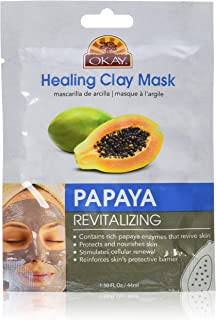 Okay Healing Clay Mask - Papaya For All Skin Types Revitalizing Nourishing, 1.5 Ounce (Pack of 72)