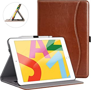 ZtotopCase for New iPad 7th Generation 10.2 Inch 2019, Premium PU Leather Slim Folding Stand Cover with Auto Wake/Sleep, Multiple Viewing Angles for Newest iPad 7th Gen 10.2'' 2019, Brown