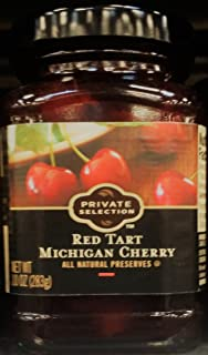 Private Selection Red Tart Michigan Cherry All Natural Preserves 10 oz (Pack of 2)
