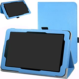 """Sprint Slate 8"""" Tablet Case,Mama Mouth PU Leather Folio 2-Folding Stand Cover for 8"""" Sprint Slate 8 (AQT80) / Sprint Slate 8 Plus Android Tablet,Light Blue"""