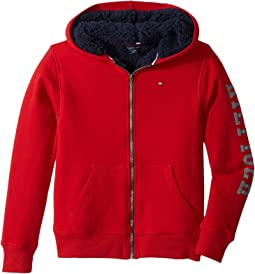 Tommy Hilfiger Kids - Sherpa Lining Full Zip Hoodie (Big Kids)