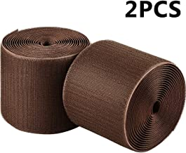 2 Packs Cable Grip Strip Carpet/Floor Cord Cover Cable Protector Cable Management, Protect Cords and Prevent a Trip Hazard, 3 Inches by 10 Feet (Brown)