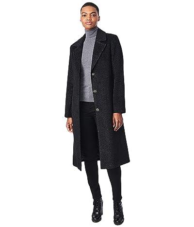 Bernardo Fashions Lurex Speckled Wool Coat (Black) Women