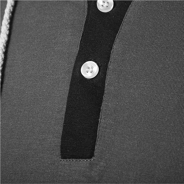 Hoodies for Men Men's Casual Long Sleeve Pullover Hoodie Drawstring Pullover Collarless Shirt Fashion Sweatshirt And Hoodies