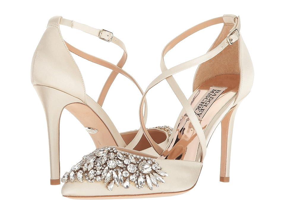Badgley Mischka Harlene (Ivory Satin) High Heels
