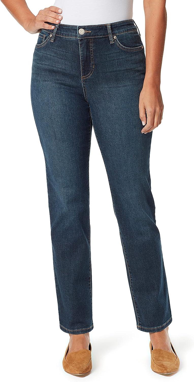 Bandolino Women's Plus Size Mandie Signature Fit High Rise Straight Jean