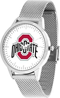 Ohio State Buckeyes - Mesh Statement Watch - Silver Band
