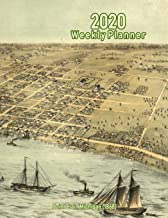 2020 Weekly Planner: Saint Clair, Michigan (1868): Vintage Panoramic Map Cover