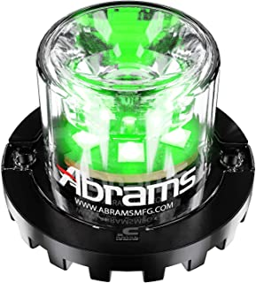 Abrams SAE Class-1 Blaster 360 (Green/Green) 18W - 6 LED Security Emergency Vehicle Truck LED Hideaway Surface Mount Strobe Warning Light