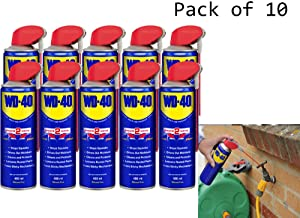 WD40 Smart Straw Aerosol Cleans Spray  Lubrication Care Car Lubricant Releasing Oil Stops squeaks Cleans and protects Loosens rusted parts Frees sticky mechanisms 450ml  Pack
