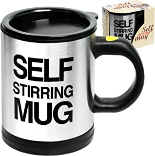 Self Stirring Coffee Mug Cup – Funny Electric Stainless Steel Automatic Self Mixing..