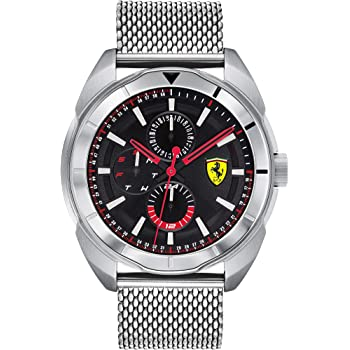 Ferrari Men's Forza Quartz Stainless Steel and Bracelet Casual Watch, Color: Silver (Model: 830637)