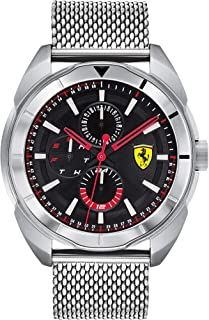 Ferrari Men's Forza Quartz Watch with Stainless Steel Strap, Silver, 22 (Model: 0830637)