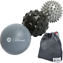 Massage Balls Deep Tissue: Lacrosse Ball, Spiky Ball and Foam Ball Roller –Trigger Point Therapy, Myofascial Release, and Muscle Recovery. Foot Massager and Plantar Fasciitis. FREE eBook & Video