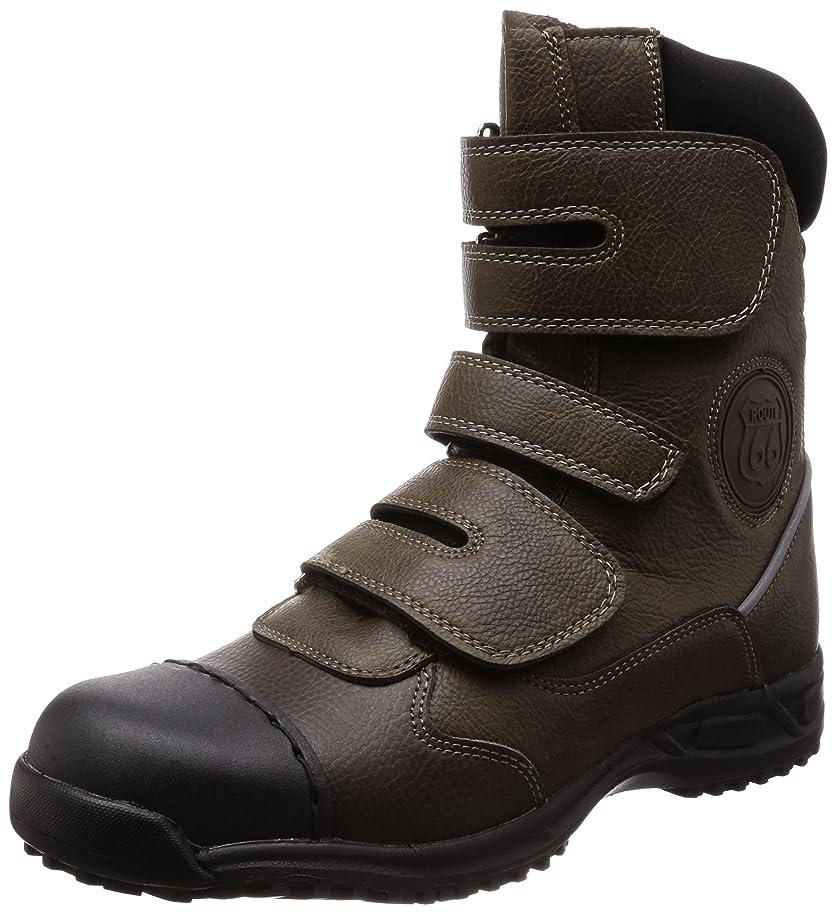 前者売り手教え[フジテブクロ] 安全靴 作業靴 オーバーキャップ 外付先芯 ルート66 半長靴 セーフティシューズ JIS(S) 級相当先芯 66-20 メンズ