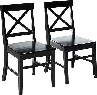Great Deal Furniture Truda Farmhouse Black Finish Acacia...