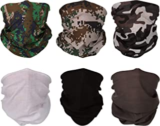 9pcs Bandana Face Mask Neck Gaiter Headband Scarf Headwrap Neck Warmer Seamless Face Scarf Mask For Workout