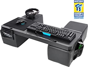 Couchmaster CYCON - Couch Gaming Lapboard/Lapdesk for Keyboard/Mouse (PC / PS4 / XboxOne) incl. Ergonomic Cushions, Mousepad, 5m Cable (Black Edition)