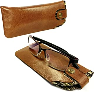 Alston Craig Vintage Leather case for Glasses/Sunglasses Brown
