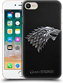 Official HBO Game of Thrones Silver Stark Embossed Sigils Hard Back Case Compatible for Apple iPhone 7 / iPhone 8 / iPhone SE 2020