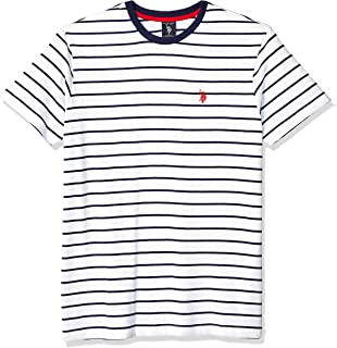Men's Thin Stripe Crew Neck T-Shirt
