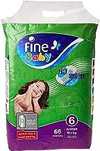 Fine Baby Diapers Smart Lock, Junior 16+ Kgs, Mega Pack, 66 Count