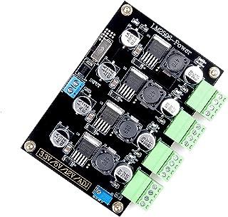 DC-DC 5-40V to 3.3V 5V 12V ADJ Adjustable Step Down Voltage Regulator, LM2596 4-Way Multiple Output Switching Power Supply Module Board, 5A Buck Volt Converter Transformer Stabilizer