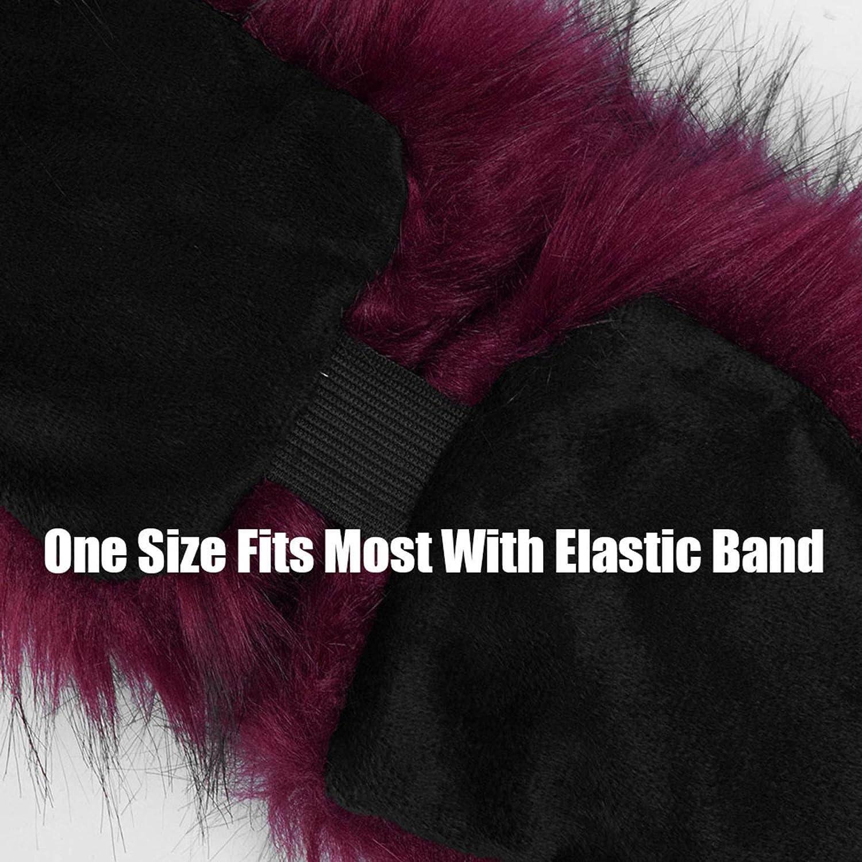 Faux Fur Headband for Women with Elastic Band Russian Cossack Hat - Fluffy Winter Earwarmer Earmuff
