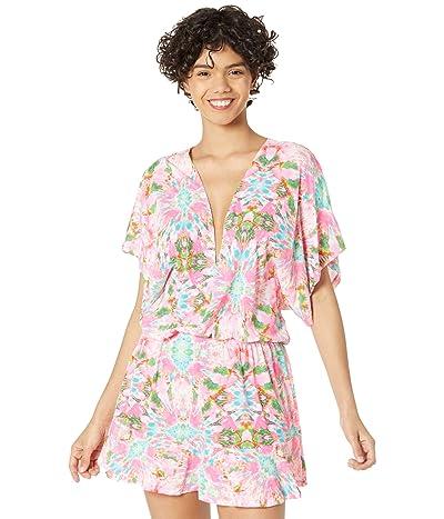 Luli Fama Ocean Drive Playera V-Neck Ruffle Dress Women